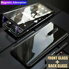 For Phone Case Cover 360° Full Magnetic Adsorption Metal Double Sides Glass