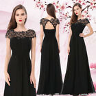 Ever-pretty Lace Black Formal Prom Gowns Evening Party Cocktail Dresses 09993