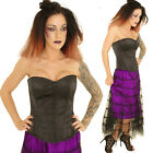 BLACK SATIN BASQUE CORSET gothic  tutu punk GOTH BURLESQUE COSTUME ALTERNATIVE