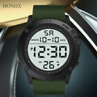 Fashion Men's Military Sports Watch LED Digital 5 ATM Silicone Round Watches image