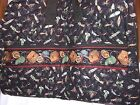 VERA BRADLEY Retired Rare Fishing LURES BLACK Travel Garment Bag Zipper Pockets