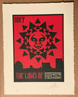 2015 Shepard Fairey LAWS OF PHYSICS 97 Letterpress 10X13 ART PRINT Signed/#200