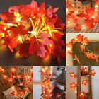 Halloween Led Maple Fairy Lamp Battery String Lights Fall Party Wedding Decor