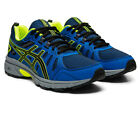 Asics Boys Venture 7 GS Trail Running Shoes Trainers Sneakers - Blue Yellow
