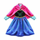 Kids Girls Frozen Queen Anna Costume Cosplay Party Gown Fancy Dress Outfit USA