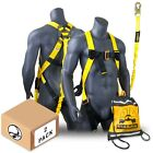 KwikSafety SCORPION ANSI Fall Protection Safety Harness w/ Attached 6ft Lanyard