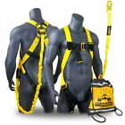 Kyпить KwikSafety SCORPION ANSI Fall Protection Safety Harness w/ Attached 6ft Lanyard на еВаy.соm
