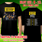 ZZ Top 50th Anniversary Tour Dates 2019 Black T-Shirt Size M-3XL Kompor Free image