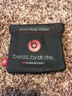 Black Pocket Handy Carrying Soft Pouch for Monster Beats Wireless Powerbeats