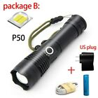Bright Zoomable XHP50 Tactical led flashlight usb rechargeable flash torch Lamp