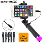 Wired Selfie Stick Monopod For I phone X 8 7 6 Plus 5 5s Wired Photograph Tripod