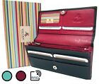 Womens Quality Purse Wallet Soft Genuine Leather RFID Visconti New CD21 image