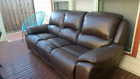 Leather couch - electric recline