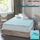 Spa Sensations Cooling Gel Memory Foam 3 Mattress Topper Queen King Matress pad image