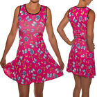 SKATER DRESS PINK WITH BUTTERFLIES EMO  SIZES 8-18 ALTERNATIVE