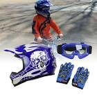 DOT Youth Kids Helmet Dirt Bike ATV Motocross Motorcycle Full Face Goggle Gloves