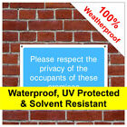 Respect privacy information sign INF57 Durable and weatherproof