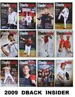 2009 Arizona Diamondbacks Dbacks Insider Programs #1 - #12 Your Choice Any Issue on Ebay