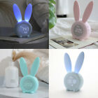 Cute Rabbit Silicone Electronic Wooden Table Clock Led Wooden Alarm Clocks