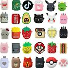 3D Q Cartoon Earphone Protective Silicone Cover For Apple Airpods Charging Case $7.46  on eBay