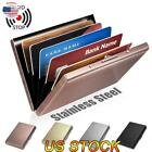 RFID Blocking Stainless Steel ID Credit Card Wallet Anti-scan Bank Card Holder image