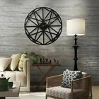Wall Clock Retro Rustic Decor Silent Watch Home Living Room Bedroom Office Timer