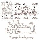 Halloween Christmas Animals Clear Silicone Stamp/Seals for DIY Scrapbooking