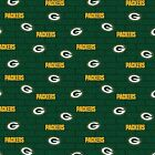 Green Bay Packers Fabric by the Yard or Half Yard, Small Print, NFL Cotton Fabri $9.5 USD on eBay