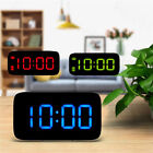 Large LED Digital Alarm Snooze Clock Voice Control Time Display 5 Home Bedroom