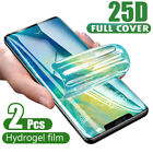 2X Hydrogel Screen Protector Film For Samsung Galaxy S9 S10 Note 8 9 10 Plus US
