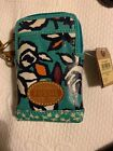 FOSSIL KEY PER OIL CLOTH CARRY ALL BAG FITS IPHONE 4, 5 CREDIT CARD WRISTLET