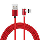 US L-Shape 90° Magnetic Type C Micro USB Adapter Charger Cable For Android Phone