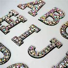 Rhinestone Iron /Sew On Sparkle Letter Patch Patches Alphabet Embroidery Clothes