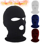 3-Hole Ski Warm Thermal Full Face Mask Balaclava Knitted Winter Sports Hat Cover