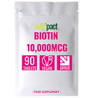 Biotin Max Strength 10,000mcg Tablets for Healthy Hair,Skin and Nails UK Made