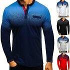 Men's Polo Shirt Dri-Fit Golf Sports Cotton T Shirt Jersey Casual Long Sleeve US