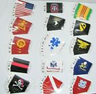 Flag-It Brand Self Adhesive Vinyl Decals New NOS Military Fire Department Etc D2