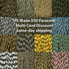 Camouflage 550 Paracord 100 foot  USA MADE & SELLER  same day shipping