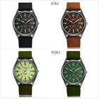 Men's Sport Quartz Date Nylon Strap Army Military Wrist Watches Canvas Band US image