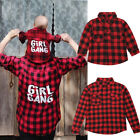 Mother And Daughter Match Christmas Plaid Shirt Women Girl Casual Family Clothes