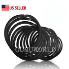 Elastic Hair Bands Rubber Hair Ties For Thick Heavy Curly Ponytail Holder US