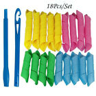 25~85cm 12~40pcs Magic Curlers Long Hair Spiral Curl Formers Leverage Rollers