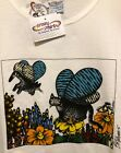 🐾NWT WOMENS XL/2XL KLiBAN BUTTERFLY WiNG CAT SCOOP-Neck CRAZY SHIRTS Hawaii S/S