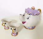 Beauty And The Beast Teapot Mug SET Mrs Potts Chip Tea Pot Cup Set Lovely GIFT