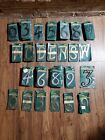 Lot- Brass Reflective Plastic Hillman Group Nail On House Mailbox Address Number