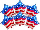 (6) USA Flag Patriotic 4th July Veteran Day Balloons Party Birthday Supplies