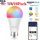 Kyпить ⭐9W E27 B22 Wifi Smart Multi-Color LED Lamp Bulb Amazon Alexa Google App Control на еВаy.соm