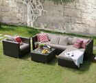 Rattan Garden Furniture Sofa Dining Table Set Conservatory Outdoor Patio Set