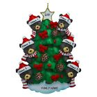 Personalized Black Bears In Tree Family of 3 4 5 6 7 Christmas Ornament Gift