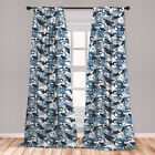 Camouflage Microfiber Curtains 2 Panel Set Living Room Bedroom in 3 Sizes